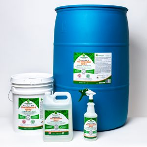 Quart, Gallon, 5Gallon, 55 Gallon containers of Flamecheck M-111 Fire Retardant Spray