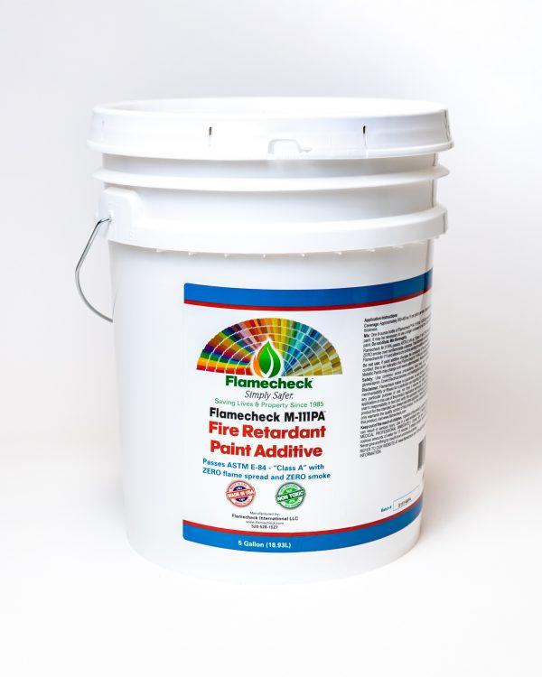 5 gallon bucket of Flamecheck M-111PA Fire Retardant Paint Additive