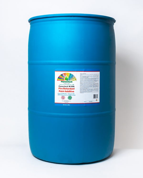 55 gallon drum of Flamecheck M-111PA Fire Retardant Paint Additive