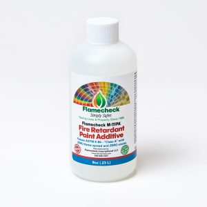 8oz bottle of Flamecheck M-111PA Fire Retardant Paint Additive