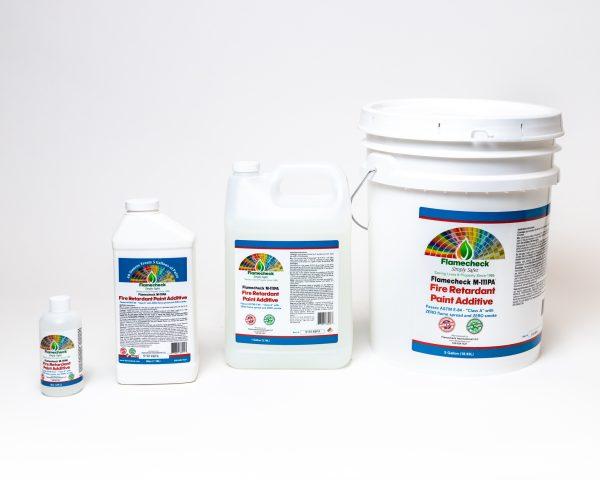 8oz, 40oz, Gallon, 5 Gallons of Flamecheck M-111PA Fire Retardant Paint Additive